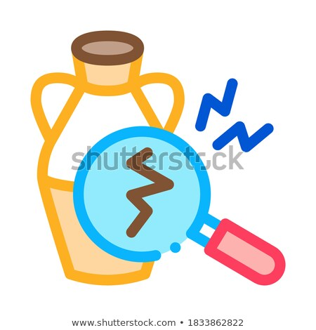 auction vase crack detection icon vector outline illustration Stock photo © pikepicture
