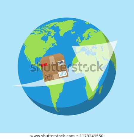 Karton világszerte házhozszállítás vektor üzlet Kína Stock fotó © robuart