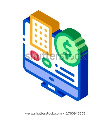 Veri işlemci bilgisayar kumar izometrik Stok fotoğraf © pikepicture
