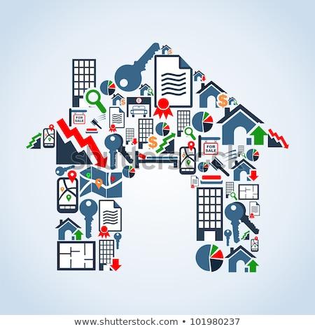 Real estate floor plan concept vector illustration Stock photo © RAStudio