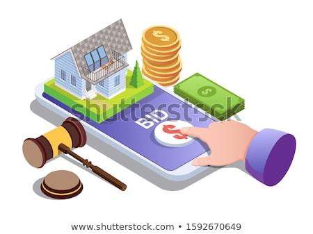 Leilões casa propriedade compra exclusivo Foto stock © RAStudio