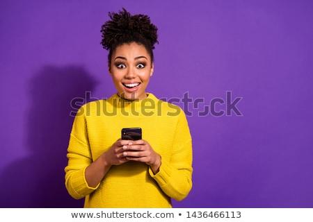 Félvér lány fiatal nő alkalmi ruha izolált Stock fotó © poco_bw