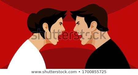 Casal faces brigar negócio cara sangue Foto stock © Paha_L