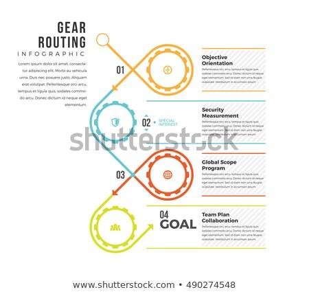 Flow Chart and gears Stock photo © 4designersart
