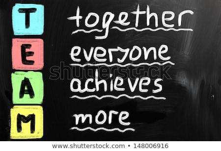 team · samen · iedereen · altijd · acroniem - stockfoto © bbbar