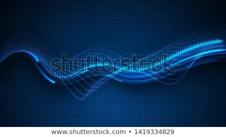 Blauw dynamisch abstractie formatie witte abstract Stockfoto © yurok