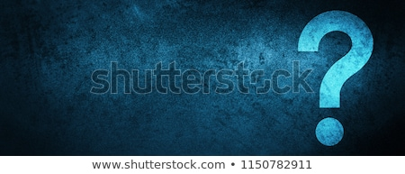 question-mark in blue Stock photo © marinini
