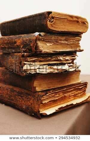 Old tattered book stock photo © deyangeorgiev