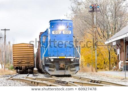 Sygnał urządzenie południe Paryż Maine USA Zdjęcia stock © phbcz
