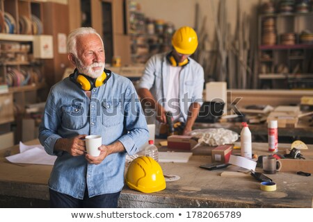 Handyman aprendiz construção caneta fundo escrita Foto stock © photography33