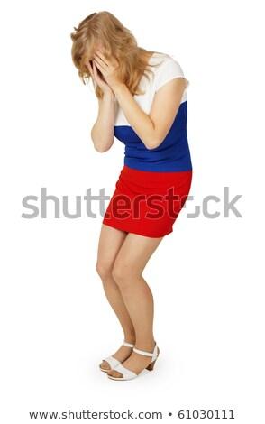 Pauvres fille robe couleur pavillon Photo stock © pzaxe