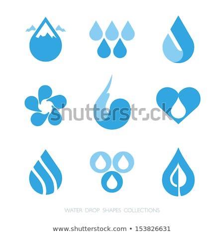 Hart water zwarte abstract ontwerp schoonheid Stockfoto © dengess