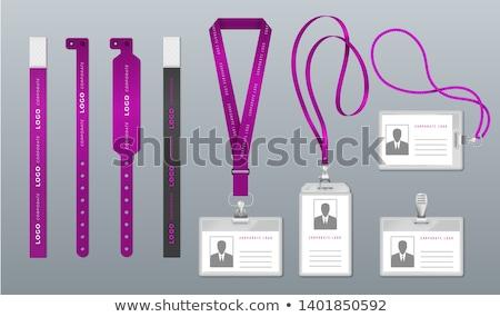 kaart · lege · badge · geïsoleerd · witte - stockfoto © shutswis