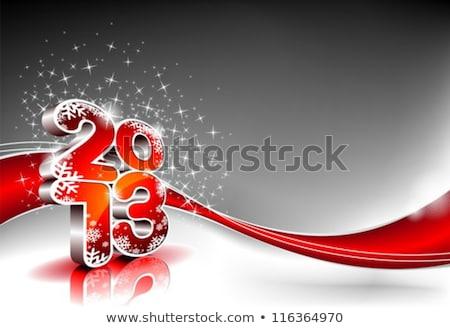 明けましておめでとうございます · 2013 · ベクトル · カード · 青 · 白 - ストックフォト © articular