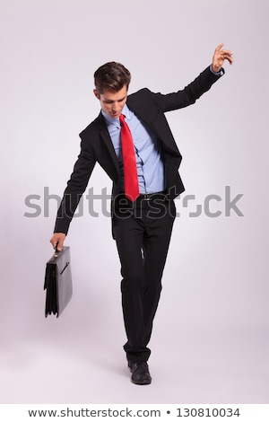 business man with briefcase balancing Stock photo © feedough