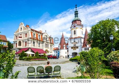 város · kapu · alsó · Ausztria · épület · építészet - stock fotó © phbcz