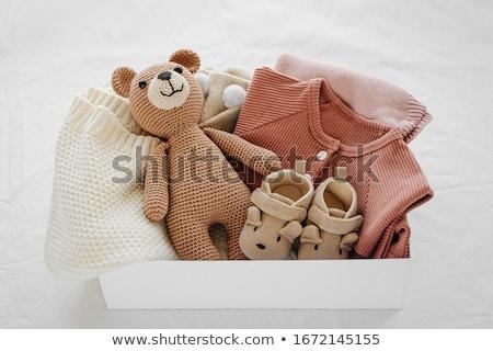 różowy · obecnej · polu · pacyfikator · dziecko - zdjęcia stock © neirfy