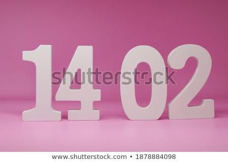 14 3D ahşap harfler Retro Stok fotoğraf © marinini