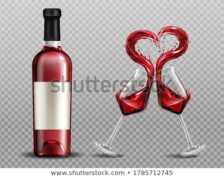transparent burgundy red heart Stock photo © marimorena