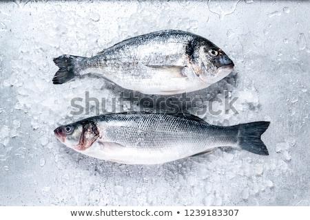 Taze balık buz pazar baltık denizi restoran Stok fotoğraf © maisicon