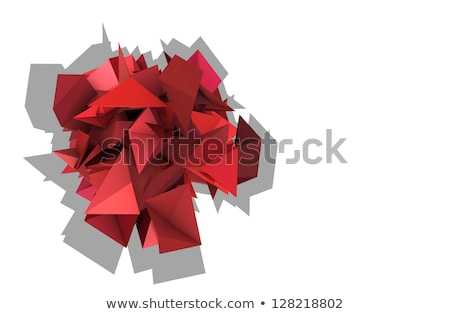 3d abstract red pink spiked electric shape Stock photo © Melvin07