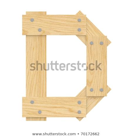 D betű fa tábla textúra fal fény Stock fotó © pinkblue