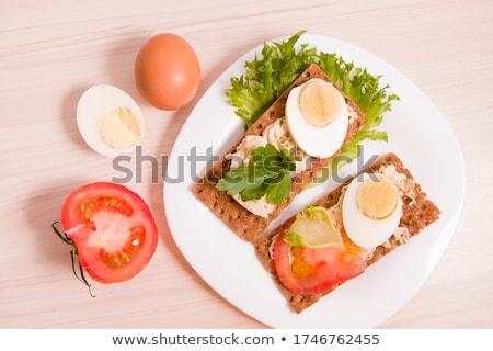 diétás · szendvics · fotó · fehér · kenyér · saláta - stock fotó © marfot