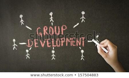Group Development Chalk Drawing Stock photo © kbuntu