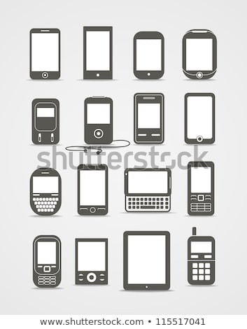 Vector icon pda Stock photo © zzve