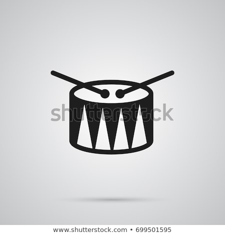 Vector icon drum and drumstick Stock photo © zzve