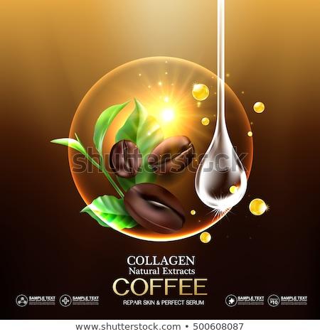 Kahve kahve çekirdekleri yalıtılmış beyaz şişe Stok fotoğraf © saje