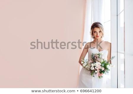 Novia retrato hermosa velo amor moda Foto stock © taden
