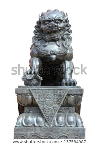 Chinese Imperial Lion Statue  Stock photo © bbbar