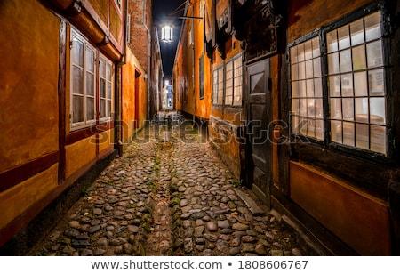 Narrow street night view. Stock photo © rglinsky77