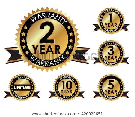 Gwarantować zestaw dziesięć rok zielone Zdjęcia stock © vipervxw