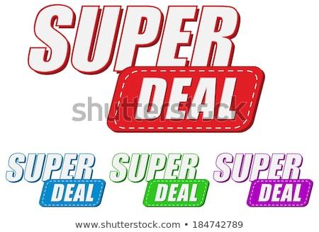 super deal four colors labels stock photo © marinini