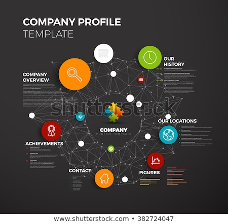 Dark Vector abstract circles infographic network template Stock photo © orson