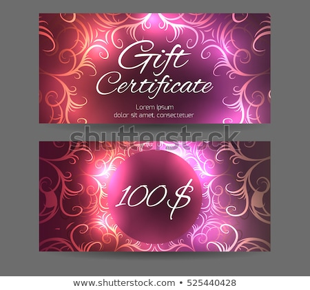 abstract parlor flyer Stock photo © pathakdesigner