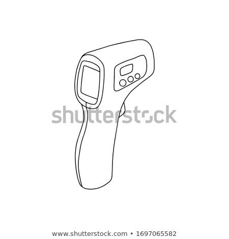 ЖК экране белый 3d иллюстрации изолированный Сток-фото © arquiplay77