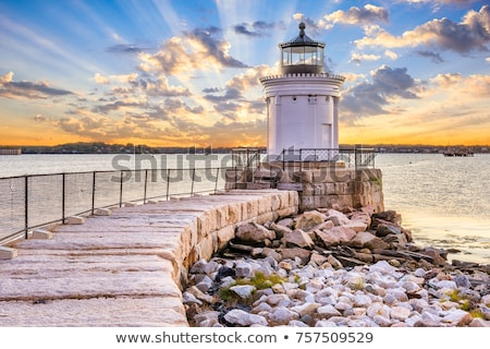 lighthouse in maine stock photo © hofmeester