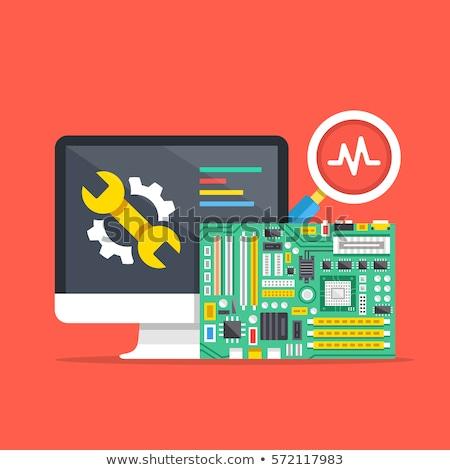manutenção · reparar · eletrônica · metal · comunicação - foto stock © oleksandro