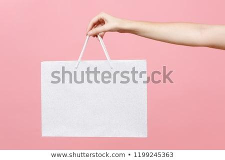 el · hediye · yalıtılmış · beyaz · kutu - stok fotoğraf © oleksandro