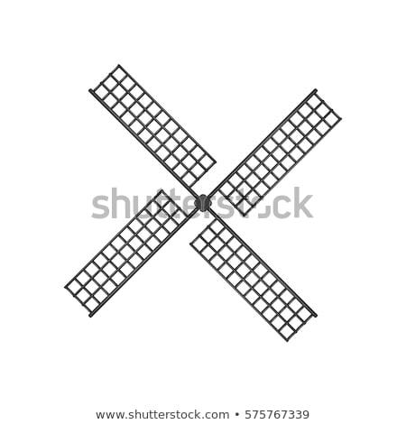 wooden windmill isolated Stock photo © OleksandrO