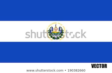 Bandeira El Salvador pólo vento branco Foto stock © creisinger