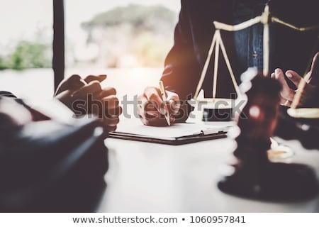 Yasal koruma 3D oluşturulan resim avukat Stok fotoğraf © flipfine