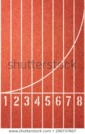 Corrida seguir números estádio céu textura Foto stock © hin255