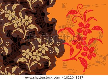 Traditional indonesian hand made batik Stock photo © dinozzaver
