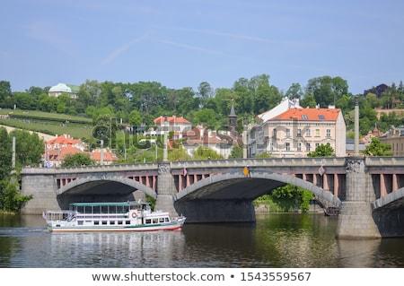 Prague · vieux · maisons · rivière · ponts · photo - photo stock © Dermot68