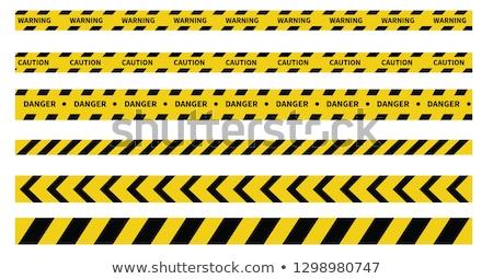 illustration of warning ribbons Stock photo © ozaiachin
