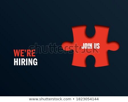 Job - Text on Red Puzzles. Stock photo © tashatuvango